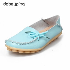New Women Real Leather Shoes Moccasins Mother Loafers Soft Leisure Flats Female Driving Casual Footwear Size 35-44 In 24 Colors 201012