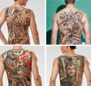 Men Water Transfer Tattoos Sticker Chinese God Back Tattoo Waterproof Temporary Fake Tattoo 48x34cm Flash Tattoo Fo jllfkH nana_home