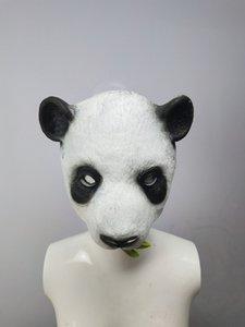 GMWNS Halloween PU mousse panda animaux Halloween PU masque de panda mousse Simulation simulation masque OIk3n animal