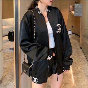 İlkbahar ve Sonbahar 2020 yeni siyah alfabe ağır işlemeli beyzbol üniforma gevşek moda erkek ve kadın ceket