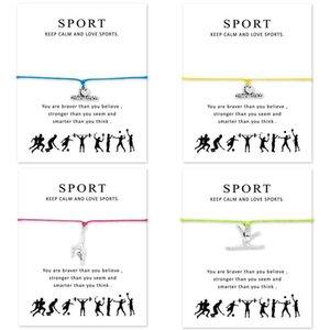 I Heart Gymnastics Браслеты регулируются для женщин мужчин для девочек подарок с картой