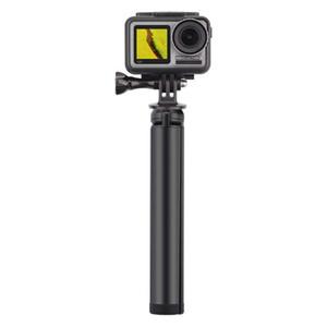 Tripés 1/4 Parafuso Preto Liga de Alumínio Extensão Stick Stand Tripé Mount Handheld Gimbal para DJI OSMO Action Câmera Acessórios