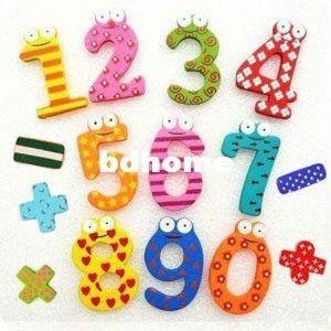 Yeni 10 Ahşap 10 Şekil Numaraları + 5 Noktalama İşaretleri Bebek / Çocuk Eğitim Aracı Renkli Buzdolabı Çubuk Mıknatıs Geek dolabı Mıknatıslar Gi JukH #