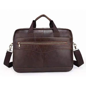 Genuine Layer First Crossbody Leather Cowhide Designer Mens Bag Shoulder Computer Handbag Bussiness Tote Bags Bag Briefcase Groan