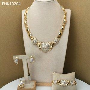 Yuminglai Kalp Takı Hugs Ve Öpücük Takı Kadınlar Için Xoxo Takı FHK9677 201224