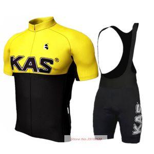 Новый Kas задействуя Джерси Set 2020 Лучшие качества Мужчины Команда Thin Биб шорты Велоспорт Джерси Mtb Maillots Ciclismo велосипед Clohing Set