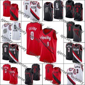 Erkekler PortlandizBlazersErkekler Damian Lillard CJ McCollum NBABeyanı All-star Basketbol Forması