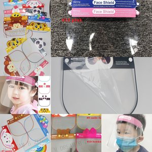 Face Bambini Cartoon Full Face Face Shield Mask Isolation 12 Designs Cover PET Anti-Fog Visor Visor Anti-sputa sicurezza bambini par