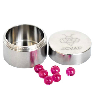 JCVAP The RIO Gr2 Titanium Jar with 4mm Ruby Terp Pearls Container Metal box for Ruby Balls Quartz Beads Insert