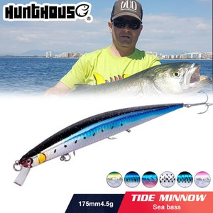 HunThouse Fishing Ture Tide Slim Minnow Wobblers Durno Bait 175mm 24.5g Flotante Mar Bajo Stickbait Leurre Ocean Beach Fish 201111