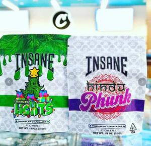 Nouveau oncle Sam Og Sac Insane Lychee Californie 3.5g Sacs Mylar Sacs à glissière pour enfant pour 420 sacs d'emballage de fleurs de fleur d'herbe sèche