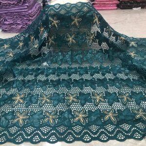 Latest de alta calidad Bazin africano rico tejido boda de la tela africana del cordón 2.5yards tela suiza del cordón para el vestido D24 Bazin brode