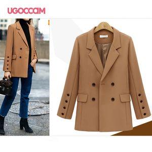 UGOCCAM Mulher Ladies Jacket Trabalho 2020 Office Lady Blazers formais e Blusão Blazer Femme Coats