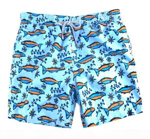 Blue fish mens Bermuda Surf Beach Shorts green Quick Dry Beach Short Pants for men sexy loose fit swimming trunks drop shipping green