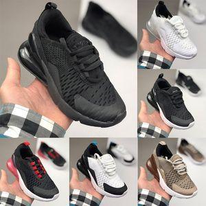 2020 Nike air max 270 kid running shoes  воздушной подушке Дети Обувь Молодежь мальчиков девочек Оптовая Открытый Дети кроссовки кроссовки 24-35