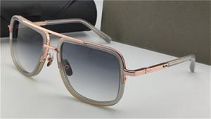 Neue Sonnenbrille Männer Design Metall Vintage Mode Stil 2030 Ein Quadrat Rahmen Außenschutz UV 400 Objektiv Brillen mit Fall
