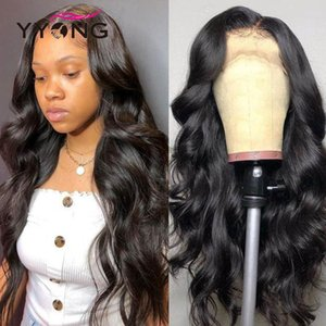 YYong HD Transparent Lace Wigs Remy Malaysian Body Wave Plucked 13X4 Lace Frontal Human Hair Wig With Natural Hairline 20-32inch