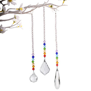 Shiny Handles Crystal Hanging Prism Ball Chakra Beads Strand Design Rainbow Suncatcher Chandelier Chrismas Decoration