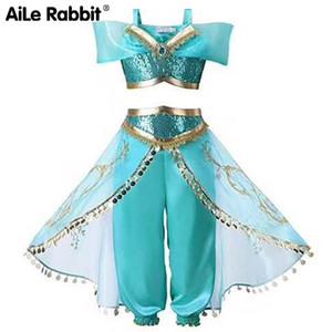 AILE Lapin costumes vêtements pour enfants nouveau set d'enfants Aladdin lampe magique robe de princesse imitation jasmin cosplay partie X0923