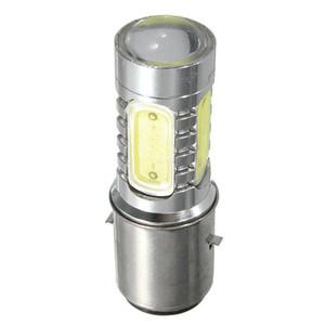 12V BA20D H6 4 COB LED White Bulb Light For Motorcycle Bike Moped ATV Headlight