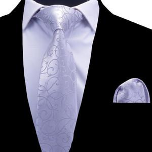 Cravates à cou rbocofloral Cravaillette pour hommes Set Burgundy Rouge Bleu Cravat argenté 8cm Pochette carrée pour hommes Mariage