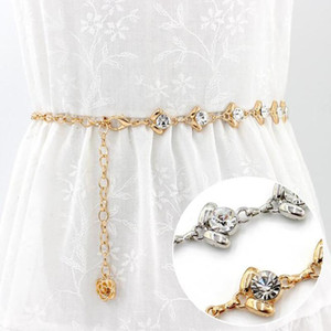 NEW Fashion Women Sexy Waist Chain for Lady Female Party Beach High Quality Metal Belt for Dress Rhinestone Body Chain Belts