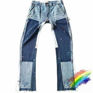 Jeans Men Women 1 Best Quality Denim Pants Heavy Patchwork Damage Cowboy Slim Fit Pants