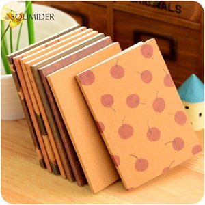 SQUMIDER 8 Patterns Retro Hand-painted Crayons Painting Notepad for Students Stationery Supplies Diary Notebook