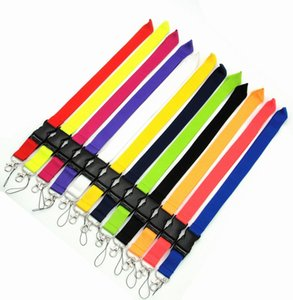 10pcs Solid Color Lanyard Badge ID Lanyards  Mobile Phone Rope  Key Lanyard Neck Straps keychain Accessories