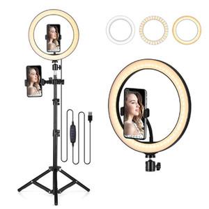"""플래시 헤드 10.2 """"LED 링 라이트 PO Selfie 조명 YouTube 메이크업 비디오 스튜디오 Tripod Aro de Luz"""