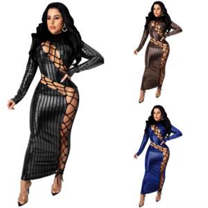 V08 Nuevo vestido Moda V Llenada Primavera Sexy Cuello de verano Cultivo Tops Blush Dos Pie Three Dress Dress Vestido Twomini