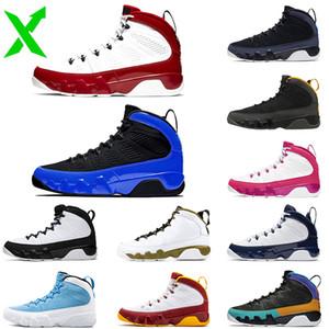 Мужчины Баскетбол обувь 2021 Новое прибытие Stock 9S X Jumpman 9 Gym Red Racer Blue Space Jam сатинИорданияРетро Открытые кроссовки 7-13