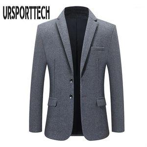 Men's Suits & Blazers Spring Autumn Blazer High Quality Fashion Suit Coats Men Slim Fit Brand Clothing Male Casual Jackets Plus Size 3XL 4XL