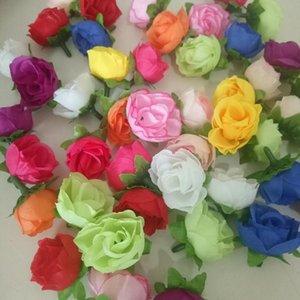 10pcs 3cm fiori artificiali fiori di seta rose piccole germogli fiori fatti a mano Ghirlande di testa di fai da te per la decorazione della casa di nozze