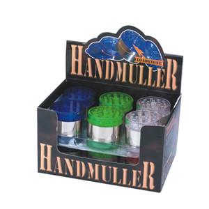 2020 New Design Plastic Hand Muller 50 MM 40 Gram Smoking Tool Herb Grinder Grinding Machine Dry Herb Crusher OEM