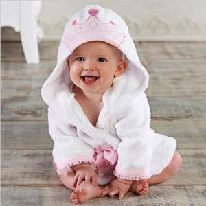Мультфильм Baby Pajamas 4 цвета животных пижамы младенческие малыши фланелевая домашняя одежда детские мальчики девочки халат Vetements Bebe халат 06210107