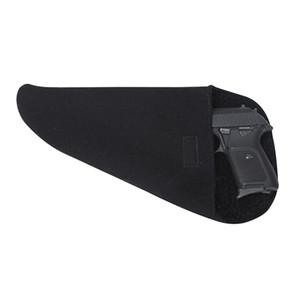 Tourbon Tactical Silicone Treated Gun Storage Case Pistol Firearm Socks Grey Gun Protector Black