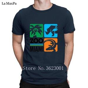 Kişilik Comical Erkekler T Shirt Zoo Miami İçin Erkekler Giyim Tişört Erkek Komik Tişört Artı boyutu Çılgın