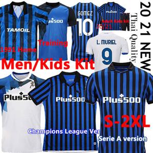 2020 21 Atalanta FC الرجعية لكرة القدم الفانيلة 1991 92 أطيلانتا قميص كرة القدم غوميز l.muriel ilicic دي رون دوفان الرجال كيت تايلاند موحدة