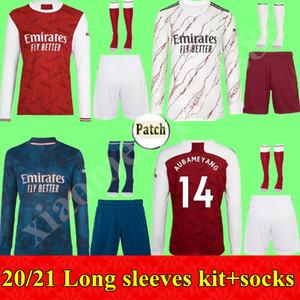 2020 2021 Menlong Manches Kit Kit Gunners Soccer Jersey 20 21 Arsen Pepe Nicolas Ceballos Henry Guendouzi Sokratis Tierney Shirt de football