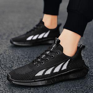 Высочайшее качество Классические удобные не кожаные кроссовки дышащие вязаные обувь мужская спортивная повседневная тенденция обувь