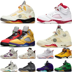 Nike Air Max Retro Jordan Shoes 2020 Fire Red 5s Männer Basketball-Schuhe 5 Herren Laney Yellow Bred Red Suede White Cement Metallic Black Sports Sneaker Größe 41-47