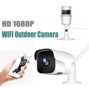 Câmeras Proker WiFi IP Câmera EC60 1080P Sem Fio P2P Sem Fio P2P Ao Ar Livre CCTV com Slot de Cartão SD Max 128G Movimento Detecção