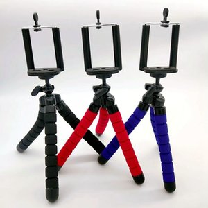 Sponge three foot kebract eight catch fish desktop mobile phone live lazy support light and easy to bend foot bracket