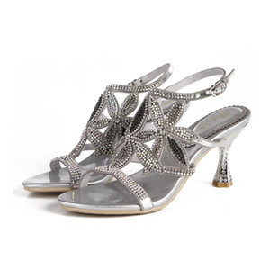 Christia Bella Sexy Women Evening Party High Heels Sandals Fashion Large Size Wedding Women Shoes Open Toe Thin Heels Prom Shoes