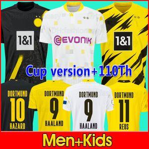 Borussia Dortmund 20 21 HAALAND REUS BELLINGHAM Bvb 110th soccer jersey HAZARD SANCHO BRANDT REYNA 2020 2021 قميص كرة القدم للرجال + طقم أطفال