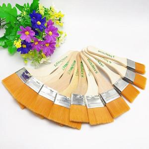 2021 Cepillo de pintura al óleo Nylon Acuarela Pincel de madera Mango de madera Barbacoa Pintura al óleo herramienta Limpieza de polvo Niños Artículos de arte de arte
