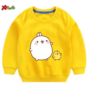 Toddler Baby Girls Sweatshirt Cartoon Molang and Piupiu Printed Cute T Shirt Kids Hoodies Baby Clothes Toddler Outerwear Clothes LJ200813
