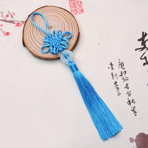 8 colores de la suerte chinas nudos Bastante Jade decoración DIY de la trenza de la artesanía colgantes de accesorios de moda del interior BWF2297