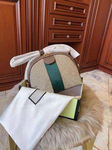 Vertrags- und Leinendruck Single frauen Umhängetaschen Kette abgenutzter Conch Weibliche Tasche Dame Handtasche Leder Hochwertiges Modepaket
